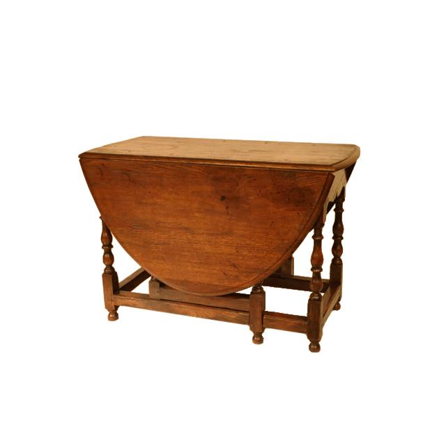 オーク材で作られたボビンターニングレッグのアンティークG-leg(ゲートレッグ)テーブル