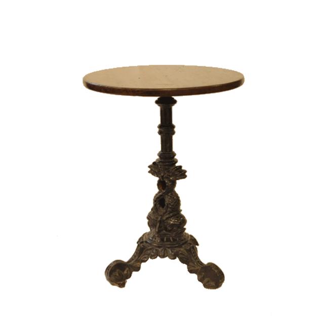 脚はアイアン製のアンティークパブテーブル