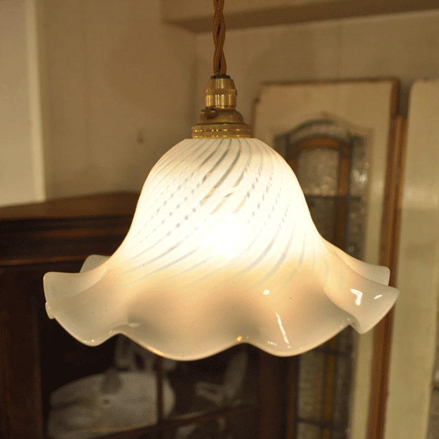 ランプシェード アンティーク照明 ペンダントライト Nailsea shade