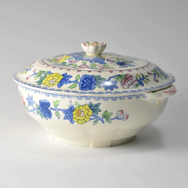 イギリスの老舗陶器ブランドメイソンズ(MASON'S)の鮮やかな色合いのアンティークチュリーン