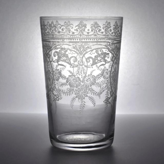 約100年前にイギリスで作られたアンティークタンブラー/レモネードグラス