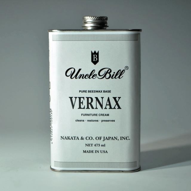 家具用ビーズワックス配合、汚れ落とし・ツヤだし・保護クリームの役割を兼ね備えたUNCLE BILL VERNAX アンクルビル・ヴァーナックス・ファニチャークリーム