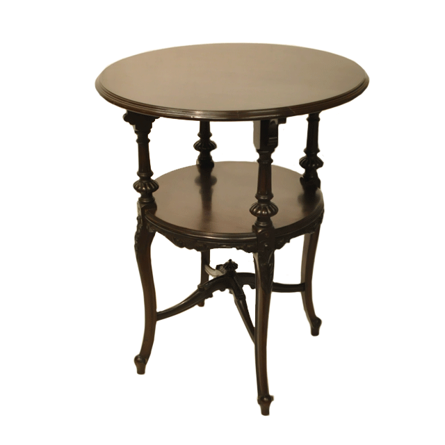 マホガニー材で作られたアンティークオケージョナルテーブル