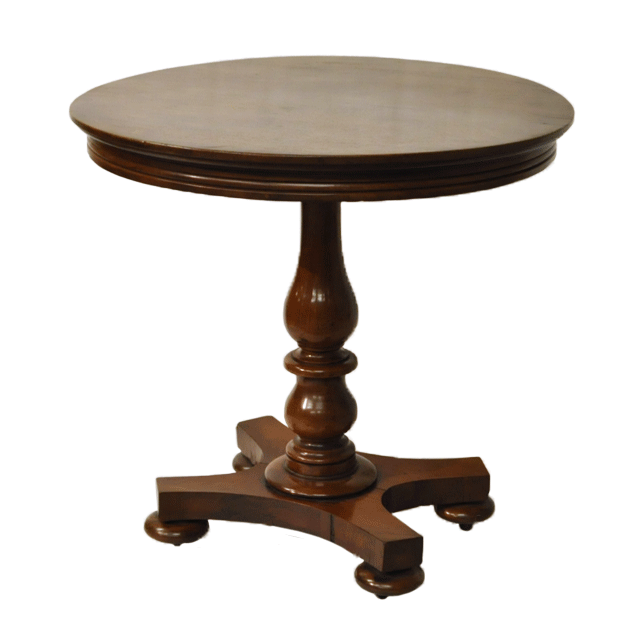 ウォールナット材で作られたアンティークソファテーブル