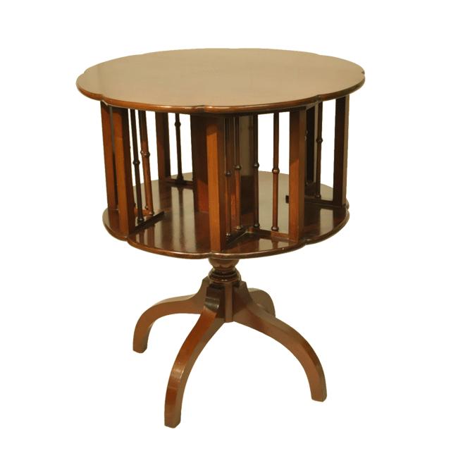 マホガニー材で作られたアンティークリボルビングテーブル