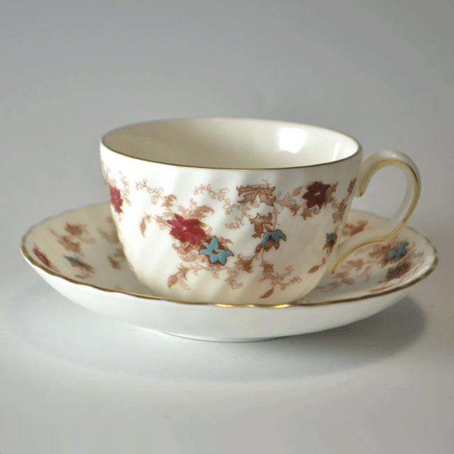 イギリス陶磁器ブランド、ミントン社のアンティークティーカップ&ソーサー