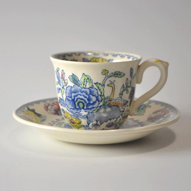 イギリスの陶磁器メーカーMASON'S(メイソンズ)のregencyパターンのデミカップ&ソーサー