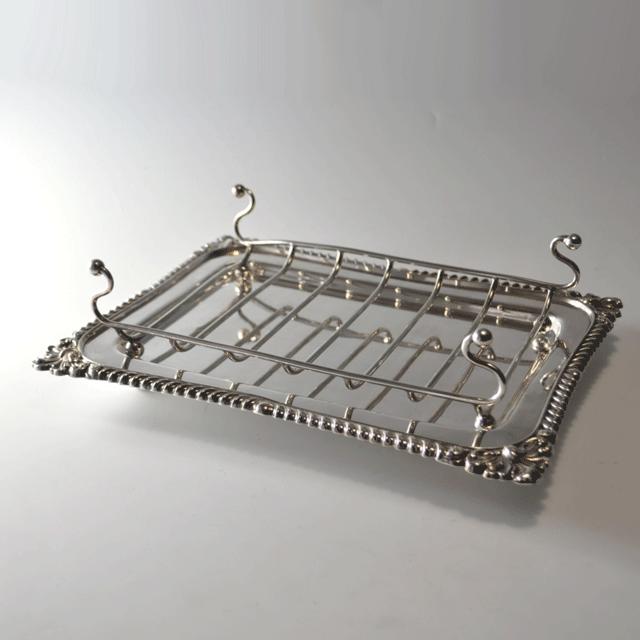 シルバープレート製アンティークアスパラディッシュ