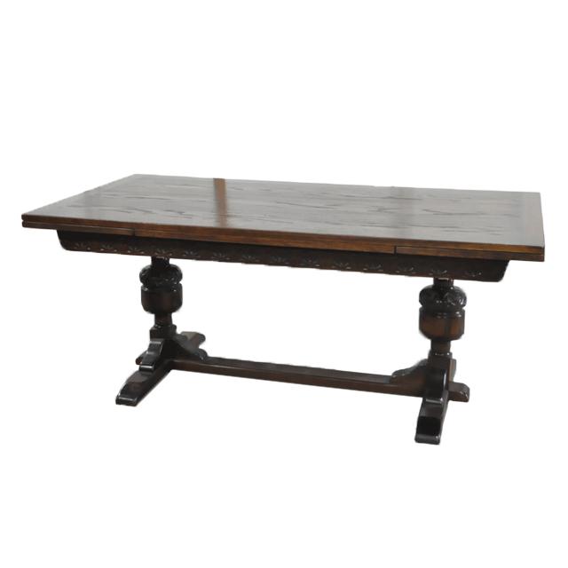 オーク材で作られたアンティークドローリーフテーブル