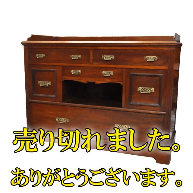 マホガニー材で作られたアンティークチェスト(箪笥)