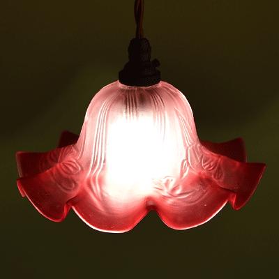ランプシェード アンティーク照明 ペンダントライト アールヌーボーシェード