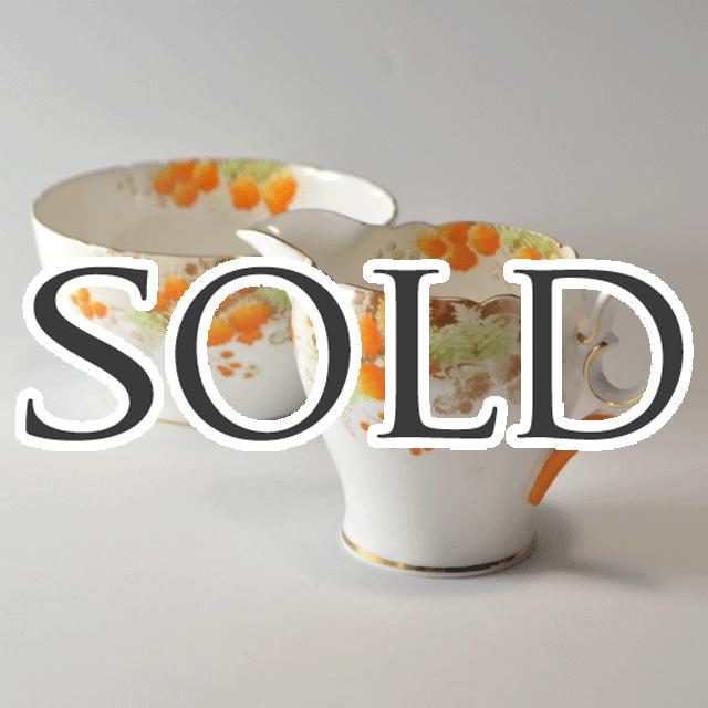 世界中で人気のあるイギリス名窯Shelley(シェリー)の世界中で人気のあるイギリス名窯Shelley(シェリー)のMimosaパターンのミルクジャグ&シュガーボール