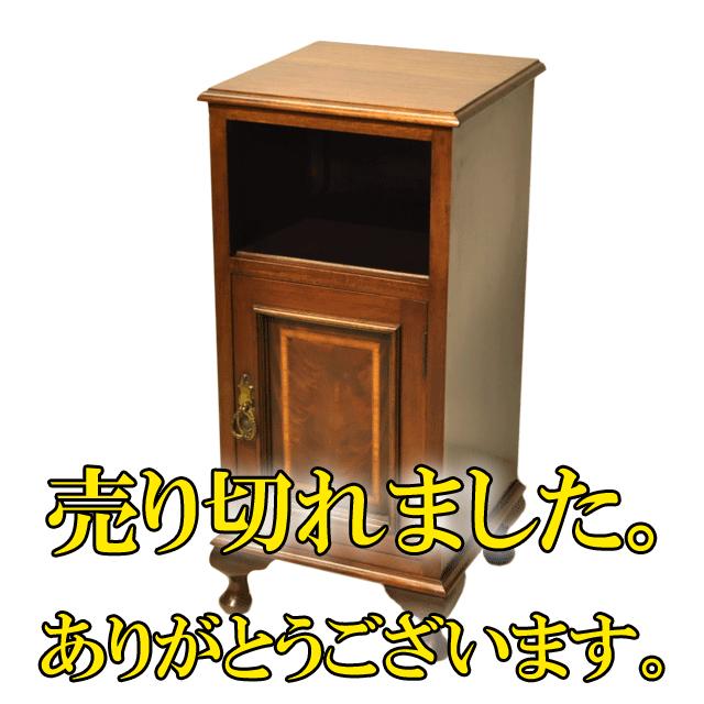 インレイ(象嵌)細工が施されたアンティークベットサイドキャビネット