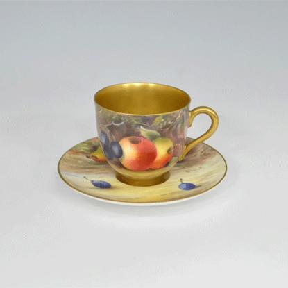 ROYAL WORCESTER ロイヤルウースター Painted Fruite キャビネットカップ Currant