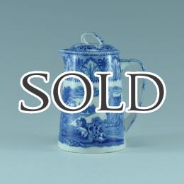 CAULDONコールドン社製ブルー&ホワイトのアンティークウォーターポット